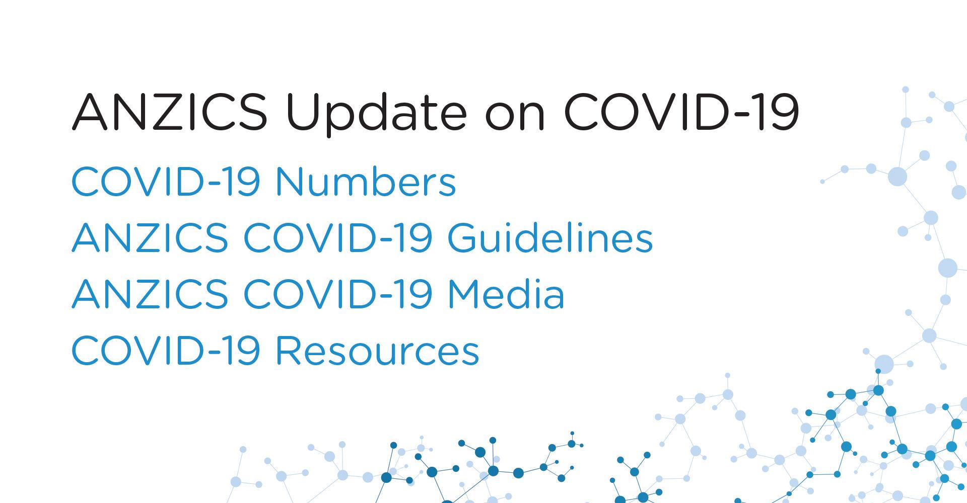 ANZICS Update on COVID-19